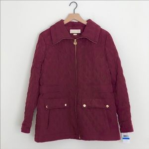Michael Kors burgundy coat with tags